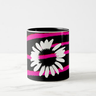 """Daisy Crazy"" Two-Tone Coffee Mug"