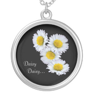 Daisy Daisy in Yellow Silver Plated Necklace