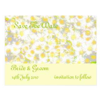 Daisy Daisy save the date Postcard