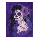 Daisy Day of the Dead glamour girl By Renee Postcard