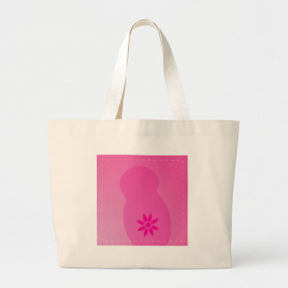 Daisy Days BABY pink Large Tote Bag
