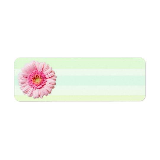 Daisy Days Light Lime Striped Return Address Label