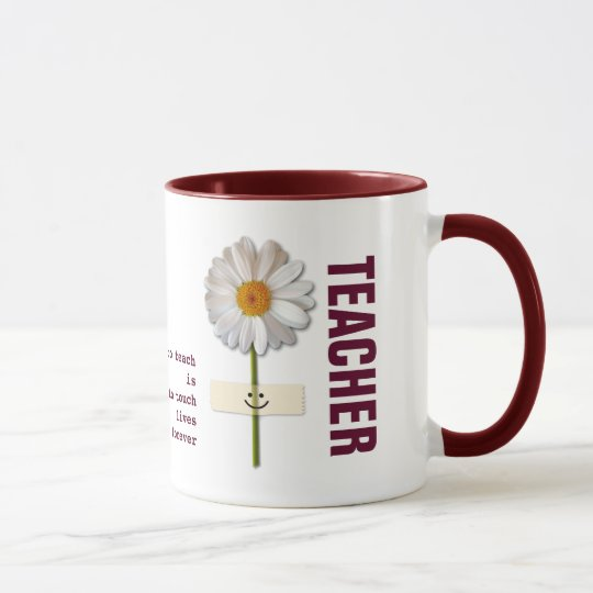 Daisy Design Teacher Appreciation Custom Gift Mugs