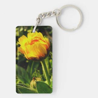 Daisy Double-Sided Rectangular Acrylic Keychain