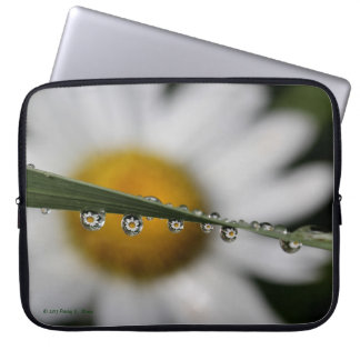 Daisy Drops laptop sleeve nature photograph