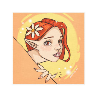 Daisy Elf canvas print
