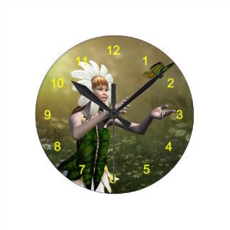 Daisy Fairy Wall Clocks