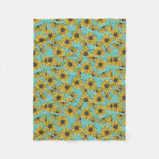 Daisy Fleece Blanket (Small)