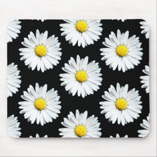 Daisy Floral Bold Pattern Mouse Pad