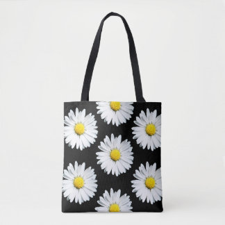 Daisy Floral Bold Pattern Tote Bag