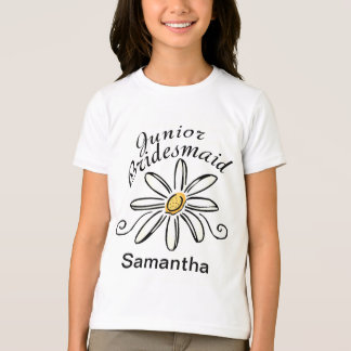Daisy Floral Jr. Bridesmaid T-Shirt