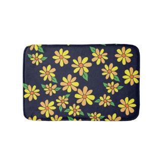 Daisy Floral Pattern Bathroom Mat