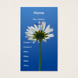 Daisy Flower Business Card vertical