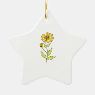 DAISY FLOWER CERAMIC ORNAMENT