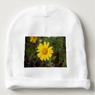 Daisy flower cu yellow baby beanie