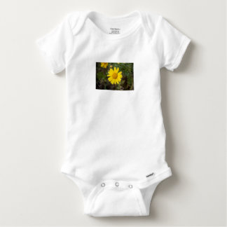 Daisy flower cu yellow baby onesie