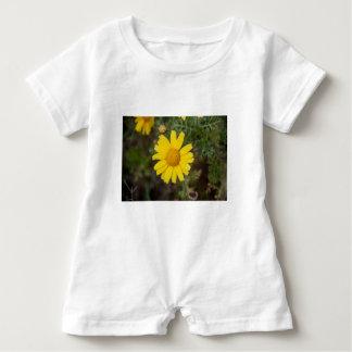 Daisy flower cu yellow baby romper