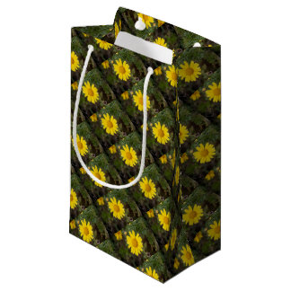 Daisy flower cu yellow small gift bag