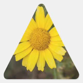 Daisy flower cu yellow triangle sticker