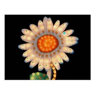 daisy flower flashing lights postcard