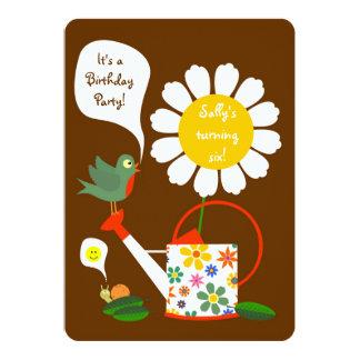 Daisy Flower Garden Girl Birthday Party Invitation