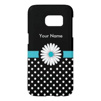 Daisy Flower Monogram Samsung Galaxy S7 Case