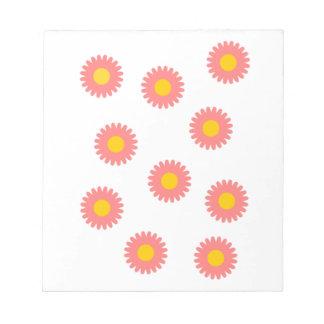 Daisy Flower Notepad