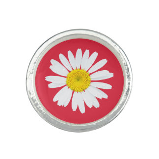 Daisy flower photo ring