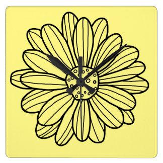 Daisy Flower Wallclocks