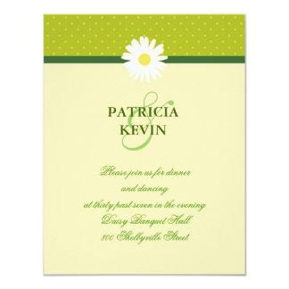 """Daisy Flower Wedding Reception Card 4.25"""" X 5.5"""" Invitation Card"""