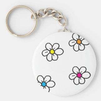 Daisy Flowers Keychain