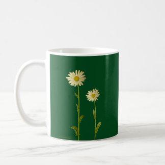 Daisy flowers on green background - Summer Coffee Mug