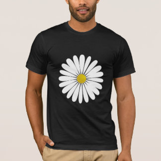 Daisy Flowers, Petals, Blossoms - White Yellow T-Shirt