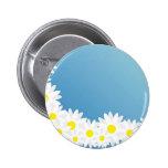 Daisy Frame Pinback Button