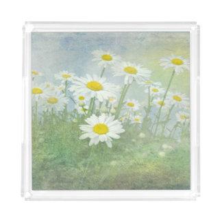 daisy garden acrylic tray