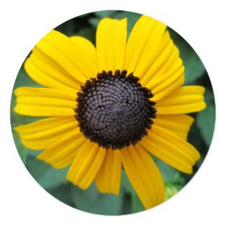 Daisy Garden Flower Gloriosa 5.25x5.25 Square Paper Invitation Card
