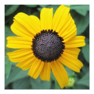 """Daisy Garden Flower Gloriosa 5.25"""" Square Invitation Card"""