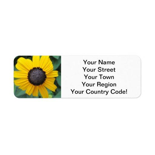 Daisy Garden Flower Gloriosa Return Address Labels