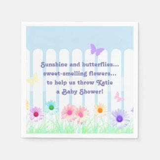 """Daisy Garden"" - poem Paper Napkin"