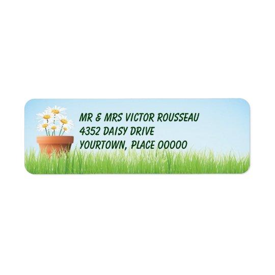 Daisy Garden Return Address Return Address Label