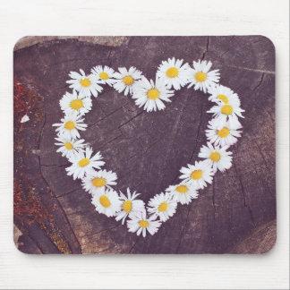 Daisy Heart Mousepad