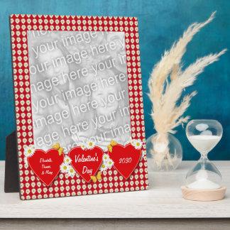 Daisy Hearts Valentine Photo Photo Plaque
