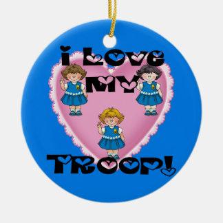 Daisy I Love My Troop Heart Ceramic Ornament
