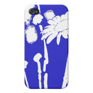 Daisy in Blue iPhone 4 Cases