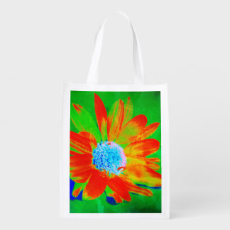 Daisy in Infrared Reusable Grocery Bag