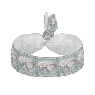Daisy initial fashion hair tie