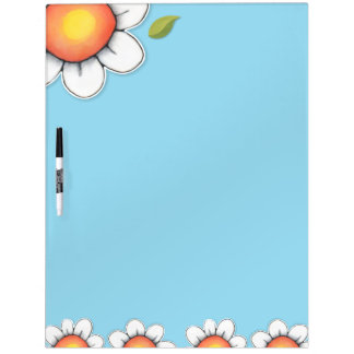 "Daisy Joy blue Dry Erase Board 22"" x 16"""