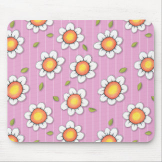 Daisy Joy pink Daisies Mousepad