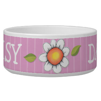 Daisy Joy pink Dog Pet Bowl