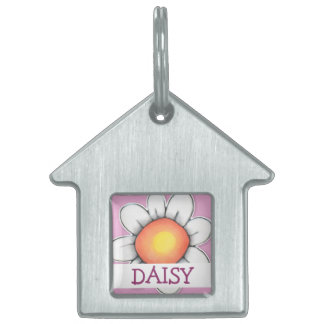 Daisy Joy pink House Pet Tag